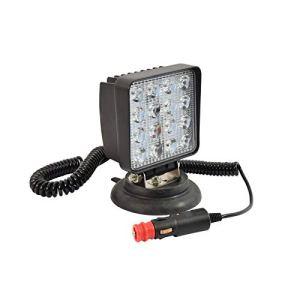Best Projecteur De Travail LED 48W, 2800 Lumens, aimanté, Prise Allume Cigare