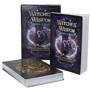 heling896 Witches Wisdom Oracle Cards – Superbe Jeu de 48 Cartes et Un Guide