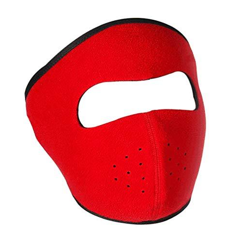 Masque à Ski, Masque Anti-Poussière pour Masque à Moto Intégral – Respirant – Élastique pour Le Cyclisme Sports à Plein Air – Rouge
