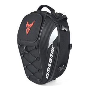 Ritapreaty Sac de Selle de siège arrière de Sac de Moto imperméable, Sac de Rangement de Casque Durable Multifonctionnel de Grande capacité Sac de réservoir de vélo de Moto