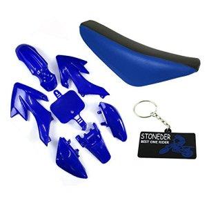 STONEDER Plastique Carénage Bleu Hauteur Assise en Mousse pour CRF50Xrr50Pit Dirt Bike 507090125160CC