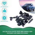 Zinniaya en Stock Nouveau 10x pour Honda pour Suzuki pour Kawasaki 6mm Vis Trou en Plastique Carénage & Cache Panneau Clips-6mm Trou Livraison Gratuite
