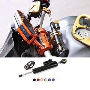 CHUDAN Kit de Montage de stabilisateur d'amortisseur de Direction réglable, Alliage d'aluminium de Moto CNC pour Yamaha MT-09 MT 09 MT09 Tracer 2015-2017,Damper