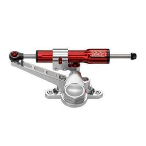 Kit amortisseur de direction BITUBO rouge position au-dessus du réservoir Kawasaki Z1000