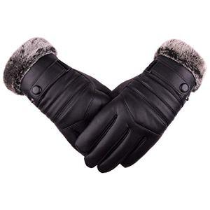 QIMANZI Gants de moto coupe-vent pour homme en cuir de porc pour entraînement de fitness et de musculation et sports de plein air avec repose-poignet réglable – Jaune – X-Large