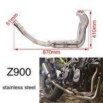 SamES Modification du Tuyau d'échappement de Moto Kawasaki Kawasaki Z900 Partie Avant Tuyau courbé Accessoires for véhicules Tout-Terrain Accessoires Moto Suzuki