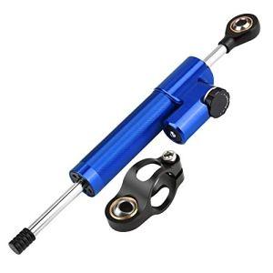 Stabilisateur d'amortisseur de direction – Stabilisateur d'amortisseur de direction en alliage d'aluminium de moto universelle (Couleur : Blue+Black)