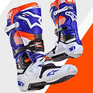 Alpinestars Moto 2017 Tech 10 MX Bottes d'Indianapolis Ltd Ed – Blanc Bleu Orange vendeur britannique