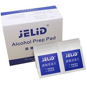 Tampons d'alcools jetables de taille portable Tampons Lingettes Nettoyants antiseptiques Nettoyage Tampons de premiers soins de stérilisation (couleur: blanc)