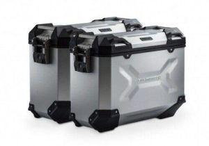 Générique SW-MO 72030226 TRAX ADV aluminium case system Silver. 37-37 l. compatible avec 950 Adv. – 990 Adv. (03-). SET