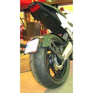 443285 – Support De Plaque Access Design Noir Déporté 'Ras De Roue' Honda Cb65