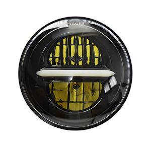 5 3/4 5,75 » phare de Spotlight à LED ronde, phare de moto Harley Davidson Sportster(Noir)