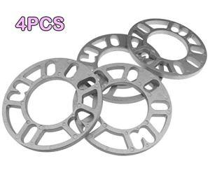 AYUN 4PCS en Alliage d'aluminium Entretoises de Roue Cales Plaque 4/5 Stud Entretoises de Roue Cales Plate pour Autocar