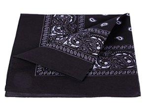 bandana, en cotton, paisley ,noir 100% Cotton 12
