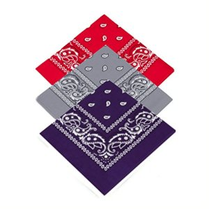 Buckingham Boutique Lot de 3 bandana cachemire pour femme, homme, filles, filles, garçons, mouchoir cravate pour le cou, le foulard, le hankie, le gangster, les cow-boy.