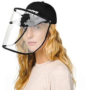 Casquette De Baseball De Protection WanNing, Casquette De Baseball De Protection Amovible À Double Usage, Casquette De Baseball Anti-crachement Anti-crachats Casquette De Protection Anti-crachats Noir