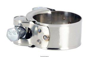 Collier de pot d échappement pour cc de a HC6368 etat Neuf Collier de manchon d'échappement à vis pour diamètre 63 à 68 mm. Le collier est en INOX mais la vis de serrage en acier.