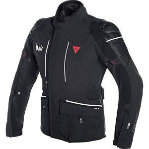 Dainese Veste de Moto avec Protections Veste de Moto Cyclone D-Air Veste Textile Noir/Blanc 52 (L), Hommes, Tourer, Toute l'année, Blanche
