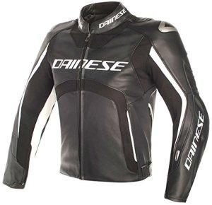 Dainese Veste Moto Misano D-Air Veste en Cuir Noir/Blanc 50, Unisexe, Sportler, Toute l'année