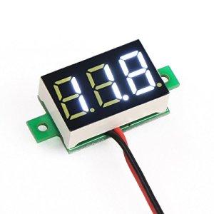 DEOK 0,36″ 3,0-30V Mini Voltmètre Numérique 18650 Cell-phone Lithium Battery Tester 5/12V DC Mètre de Tension LED Blanche