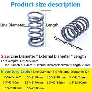 F-MINGNIAN-SPRING 5pcs / 1pc comprimé Ressort télescopique Ressort Ligne de 3,5 mm de diamètre, Diamètre extérieur 42 mm, Longueur 20 mm-300 mm Ressort de Pression (Taille : 40mm(5Pcs))