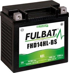 Fulbatt – Batterie moto YHD14HL-BS étanche au Gel 12V / 14Ah spécial Harley