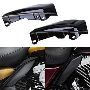 GCAILIAOSHIYOU Déflecteur dair à mi-cadre pour bouclier thermique de moto, chrome noir