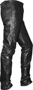 German Wear Pantalon en Cuir, Noir, 54