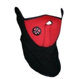 Gleader Masque de Visage Cou Chaud pour Sport Velo Moto Ski – Rouge