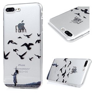 GuardGal Coque pour iphone7 Plus(5.5inch), Silicone Protection Bumper Gel Souple TPU Case Cover Coques en TPU à Motif Peint pour iphone7 Plus(5.5inch) Oiseaux