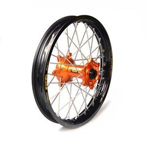 Haan Wheels-61605 : roue complète Haan Wheels Bague Noir 18-2,50 moyeu Orange 36313/3/10