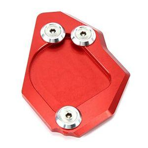 KIMISS Plaque d'extension latérale, plaque d'extension de support de béquille latérale de pied de moto Coussin d'extension Agrandir Convient pour F650GS 2007-2014(rouge)