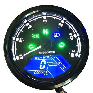 KKmoon Moto LCD Numérique 0-12000RPM Indicateur De Vitesse Compteur De Tachymètre Jauge