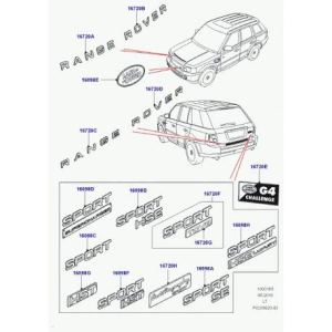 Land Rover – decalque monogramme Range Sport