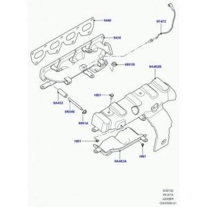 Land Rover – entretoise fixation coll. echappement Evoque