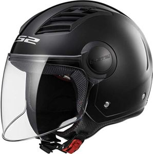 LS2 Casque moto of562 Airflow, Matt Black Long, XXL