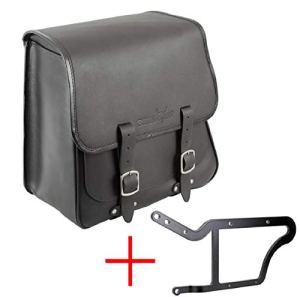 'BUFFALO Bag Sacoche de selle «Boston pour Harley Davidson Softail Break Out & Rocker (2013) Noir–28L–avec support pour les côté gauche