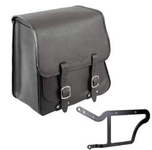 'BUFFALO Bag Sacoche de selle «Boston pour Harley Davidson Softail Custom & Deluxe (1992) Noir–28L–avec support pour les côté gauche