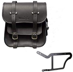 'BUFFALO Bag Sacoche de selle «Frisco pour Harley Davidson Softail Custom & Deluxe (1992)–Noir–36l–Avec support pour les côté gauche
