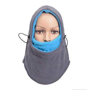 Masque à Ski, pour Chauffe-Nuque à Moto Masque à Ski – Coupe-Vent – Respirant – Élastique pour Le Cyclisme Sports à Plein Air – Gris