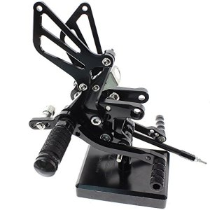 Motorcycle Rearset Foot Pegs Rear Set Footrests Fully Adjustable Foot Boards Fit For GSXR750 GSXR600 1996-2005,GSXR1000 2000-2004,SV650 SV650S SV1000 SV1000S 1998-2014