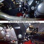 Motorcycle Rearset Foot Pegs Rear Set Footrests Fully Adjustable Foot Boards Fit For GSXR750 GSXR600 1996-2005,GSXR1000 2000-2004,SV650 SV650S SV1000 SV1000S 1998-2014