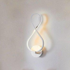 MUYUNXI Accessoires De Chambre LED Nordic Aluminium Applique Simple Moderne de Fer d'éclairage Mural TV Couloir Aisle Chambre à tête Unique à Trois Couleurs Applique Murale W Appliques Murales