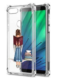 Oihxse Transparent Silicone Mignon Case Compatible pour OnePlus 7 Pro Coque TPU Souple Ultra Mince Housse Clear Crystal Design Motif Anti-Scrach Protection Etui Bumper (A7)