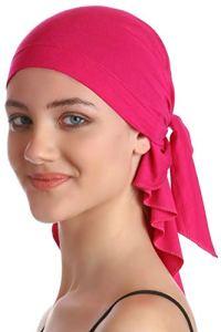 Plaine Unisexe Bandana Pour Perte De Cheveux, Cancer, Chimio (Deep Pink)