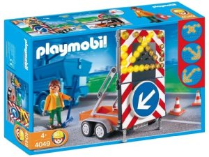 Playmobil – 4049 – Agent routier et Signialisation Lumineuse