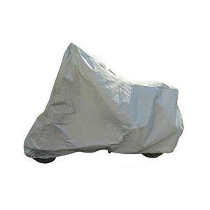 Protection complète Moto Couvre Anti UV étanche à la poussière étanche à la Pluie Couvrant Moto Respirant Capuche Tente intérieure en Plein air – Argent