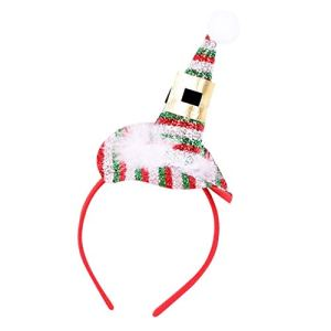 Rameng Bandeau Serre Tête Noël Chapeau de Père Noël Décoration Fête Noël pour Enfant Adulte (A)