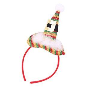 Rameng Bandeau Serre Tête Noël Chapeau de Père Noël Décoration Fête Noël pour Enfant Adulte (B)