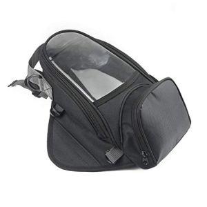 Sac en cuir imperméable à l'eau, Navigation magnétique imperméable latérale de sacoche de réservoir d'écran tactile de moto multifonctionnelle